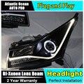 Стайлинга автомобилей Головная Лампа для Chevrolet Cruze фары 2009-2014 LED фара передняя лампа сид drl H7 hid Би-Ксеноновые Линзы низкой луч