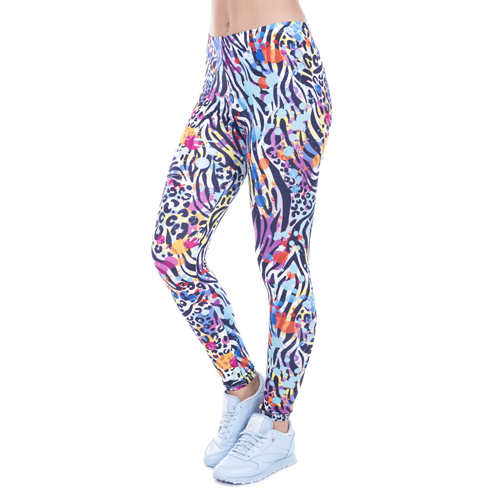 Women Legging Wild Dots Printed Leggins For Women Leggings High Waist Legins Woman Pants Stretch Leggings