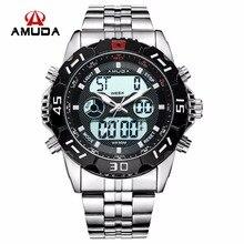 Amuda Men Quartz Wristwatches Fashion Sport Watch Auto Date 30M Waterproof Clocks Relogio Masculino Male Brand Watches