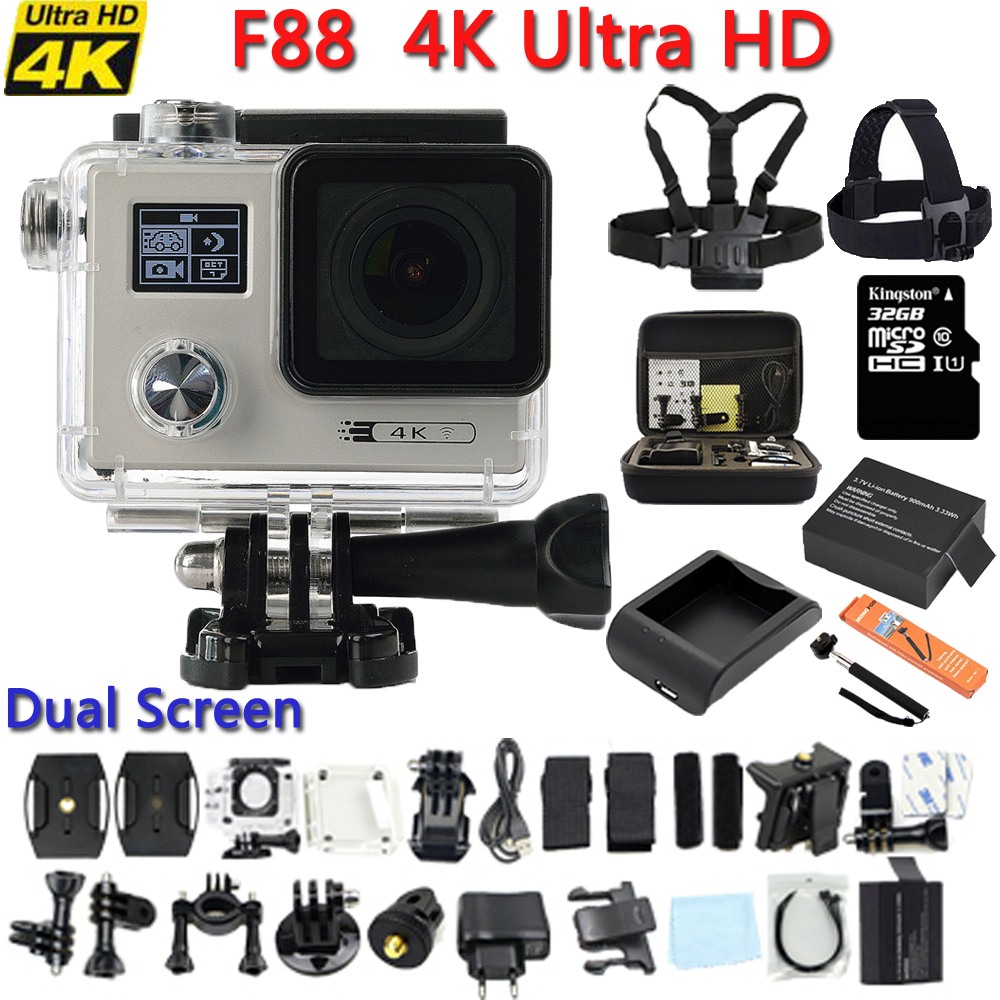 Original F88 Action Sport Waterproof Camera NTK96660 4K Wifi 1080P/60FPS Go Underwater Bike Outdoor pro ActionCamera Cam DVR