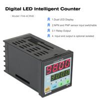 MYPIN Multi purpose Digital Preset 4 Counter Intelligent 90 260V AC/DC Length Counter Length Meter machine Relay Output PNP NPN