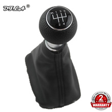 For Audi A3 S3 2000 2001 2002 2003 Car-styling New 5 Speed Car Stick Gear Shift Knob With Leather Boot Black Line for skoda fabia 1 mki 2000 2001 2002 2003 2004 2005 2006 2007 2008 car styling 5 speed car gear stick shift knob leather boot