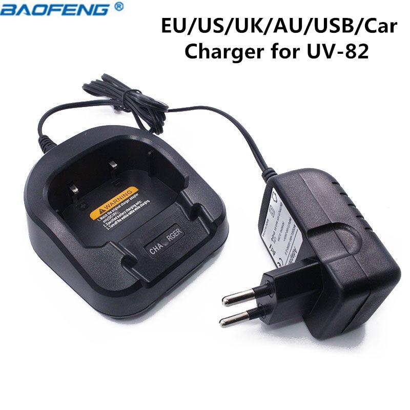 Baofeng UV-82 100-240 V Batterie Chargeur CH-8 Pour Baofeng UV-82 UV-82HX UV-82HP Talkie Walkie UV 82 Deux Façon Radio BF-UV82
