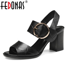 FEDONAS Summer Shoes Woman 2020 Genuine Leather Elegant Gladiator