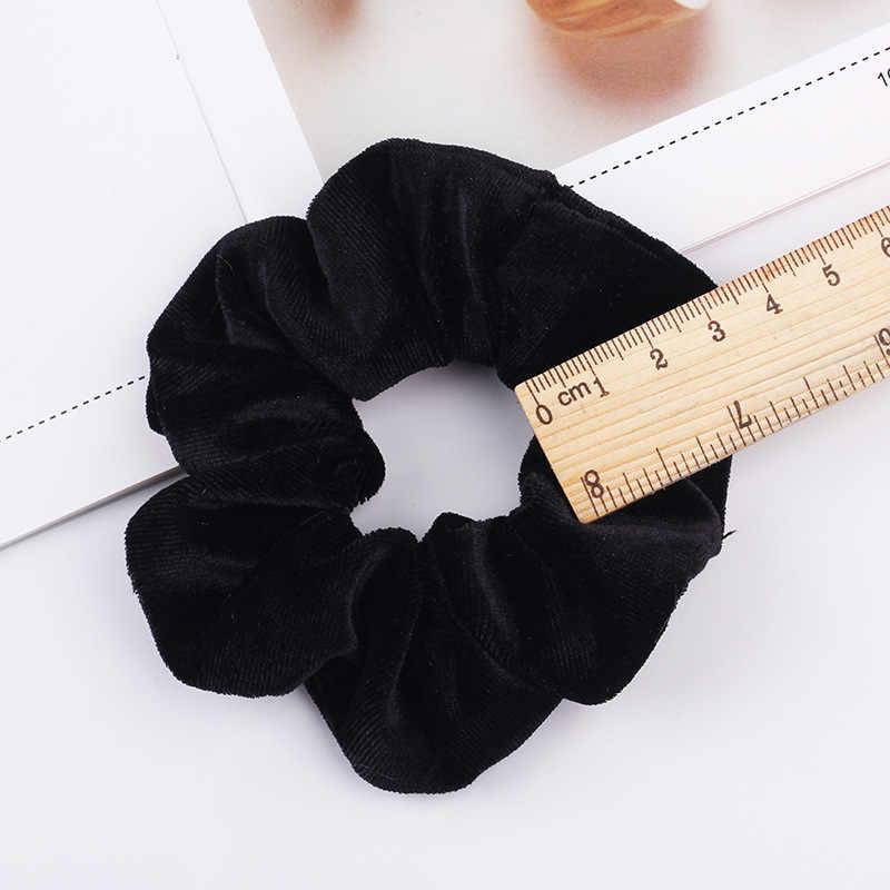 กำมะหยี่ Scrunchie หญิงสาวผมยางยืดอุปกรณ์เสริมหมากฝรั่งสำหรับผู้หญิงผูกแหวนผมเชือก Headdress