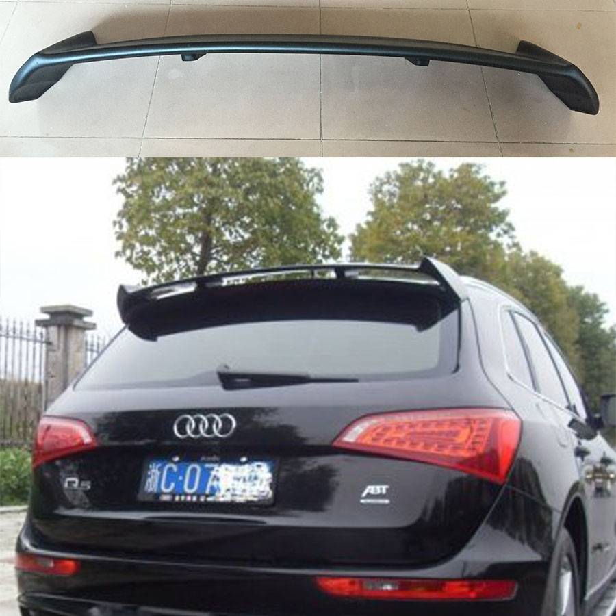 Unpainted FRP Q5 ABT style rear trunk spoiler wing for Audi Q5 2009~2013 pu rear wing spoiler for audi 2010 2011 2012 auto car boot lip wing spoiler unpainted grey primer