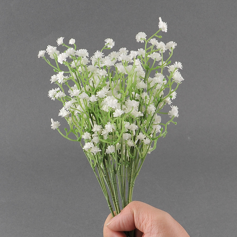 Elegant 3pcs Artificial Babys Breath Gypsophila Flower White Home