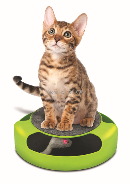 Hot selling Cat toy with scratch pad catch mouse toys for any size cat pet entertained for hours wholesales Feline Frenzy PP001