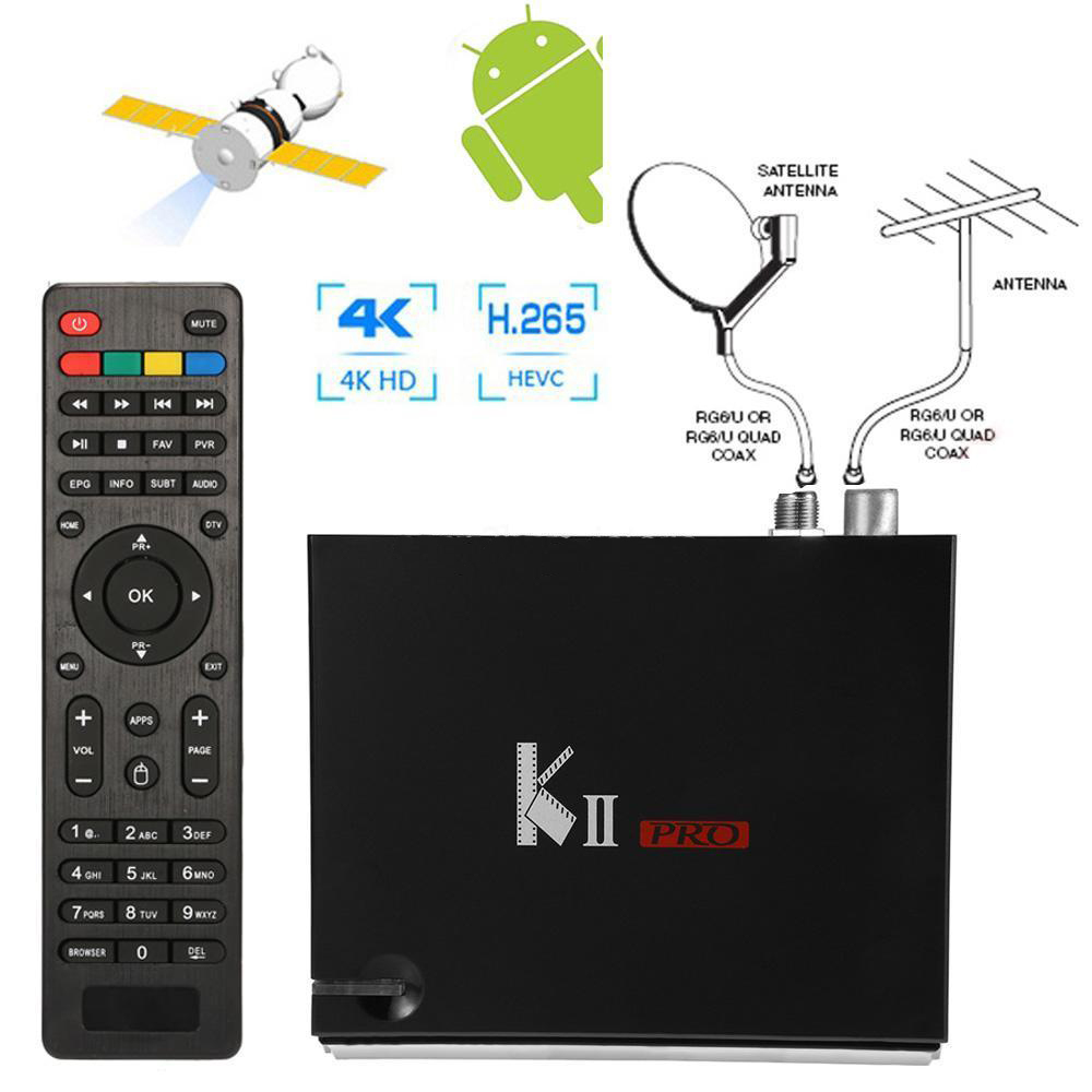 All in one KII Pro Android 5.1 With 2G RAM MPEG-4 Digital DVB-T2 DVB-S2 Satellite Receiver IKS Cccam Biss Combo H.265 4K TV Box d202 android dvb t2 tv receiver
