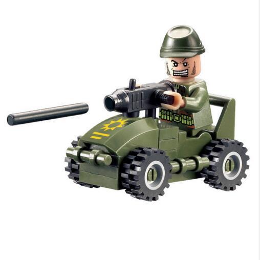 Enlighten Models Building toy Compatible with Lego E830 28pcs Soldier Car Blocks Toys Hobbies For Boys Girls Model Building Kits