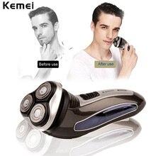 Kemei-2801 Recarregável Barbeador Elétrico Para Homens Aparador de Barba Barbeador Cuidados Pessoais