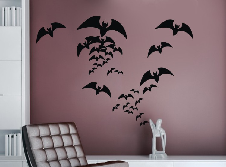 Beau Vinyl Removable Halloween Bat Wall Sticker Home Decor Diy Living Room  Bedroom Interior Halloween Wall Decoration In Wall Stickers From Home U0026  Garden On ...
