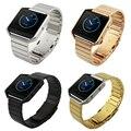 Preto de prata de ouro de luxo de metal em aço inoxidável chama smart watch band strap pulseira para fitbit
