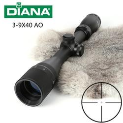 Tactical DIANA 3-9X40AO Riflescope One Tube Glass Double Crosshair Reticle Optical Sight Hunting Rifle Scope