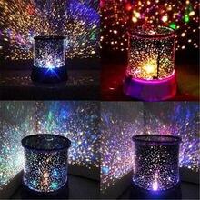Цветная светодиодная проекционная лампа с usb светодиодный Ночной