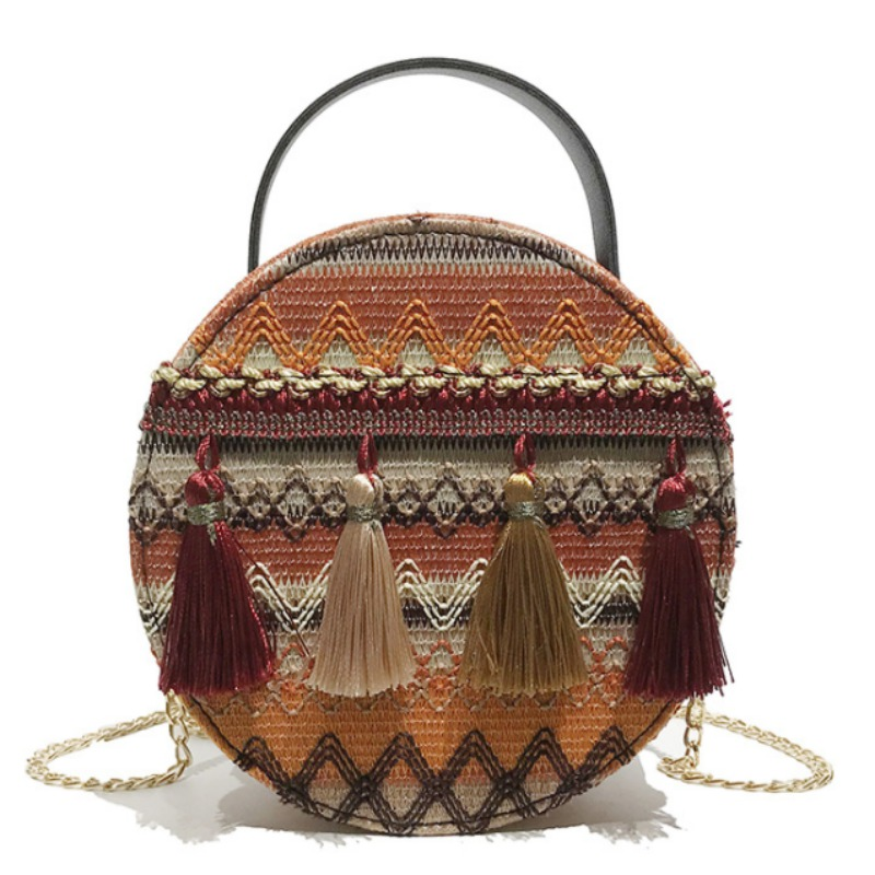 2019 New National Striped Embroidery Women Bags Boho Style Summer Tassels Mini Shoulder Bags Soft Leather Handle Crossbody Bags2019 New National Striped Embroidery Women Bags Boho Style Summer Tassels Mini Shoulder Bags Soft Leather Handle Crossbody Bags