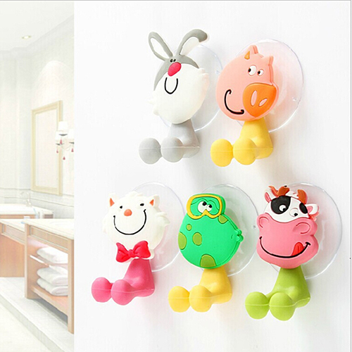 Cute Animal Silicone Toothbrush Holder Bathroom Wall Hanger Sucker Hook Stand image