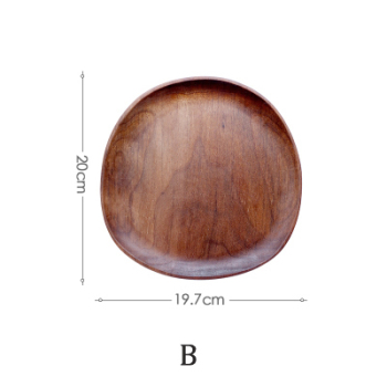 Whole Wood lovesickness Wood Irregular Oval Solid Wood Pan Plate Fruit Dishes Saucer Tea Tray Dessert Dinner Plate Tableware Set 8