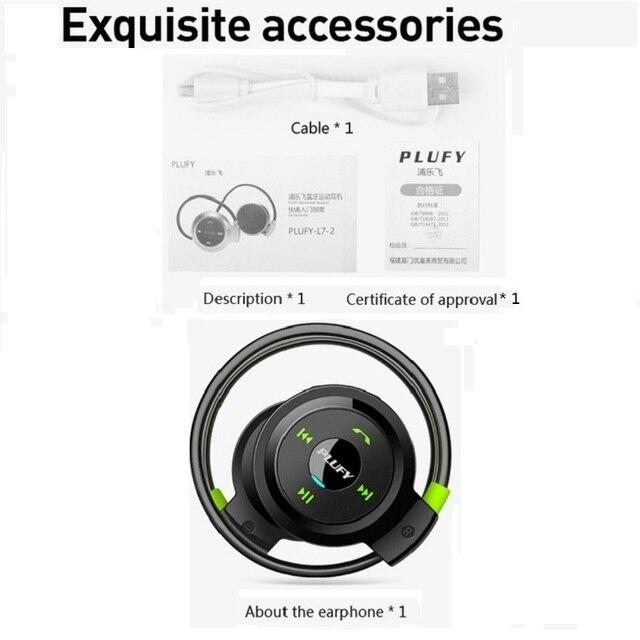 4504a4cdff4 PLUFY Sports Bluetooth Headset Wireless Headphones Earphones Running  Auriculares Con Mic Inalambrico Fone De Ouvido Bluedio