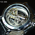 Luxury Brand TIEDAN Tourbillon Automatic Mechanical Watch Men Transparent Skeleton Wristwatch Male Fashion Sport Business Watch