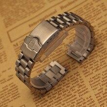 Продвижение Ремешок Для Часов Из Нержавеющей СТАЛИ Часы браслет ремешок 20 мм Серебро застежка складной развертывания для бренда прямой конец