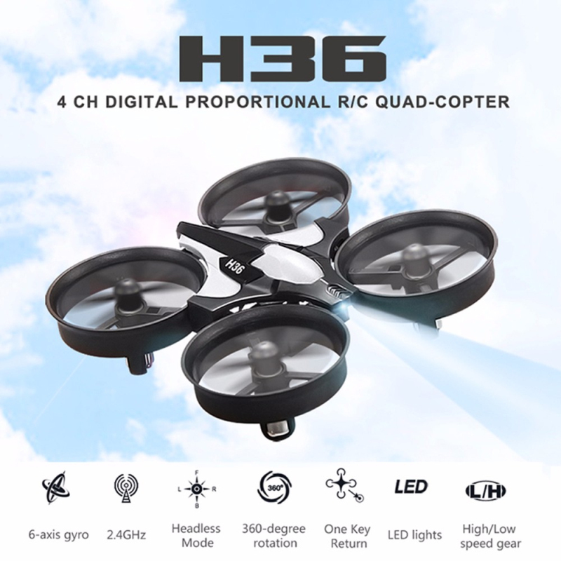 H36 Mini Drone 2.4G 6 Axis RC Micro Quadcopters 2 Speed With Headless Mode One Key Return Helicopter Waterproof Resistance toys image