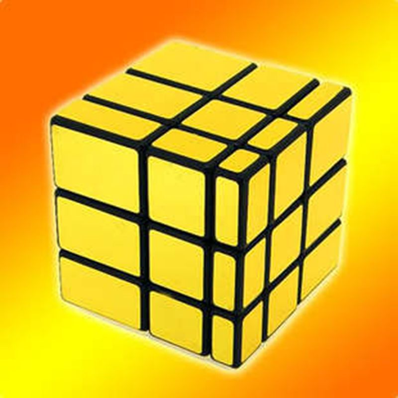 Yongjun Hot selling golden magic cube good brain toy glow in dark