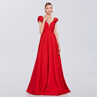 Coniefox 38083 Red lace Slim Deep V Neck long dress party evening dress gown vestidos de festa vestido longo para casamento