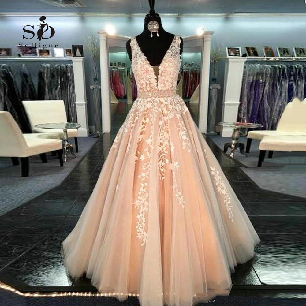 V Neck Beaded Wedding Gowns: Aliexpress.com : Buy Peach Wedding Dress 2018 With