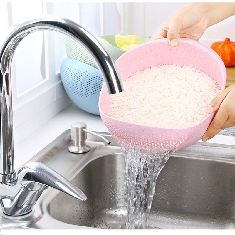 Wash Rice Sieve The Goods for Kitchen Cooking Tools Fruit Basket Plastic Clean Rice Machine Vegetables Basin cozinha 19*18*8.5cm