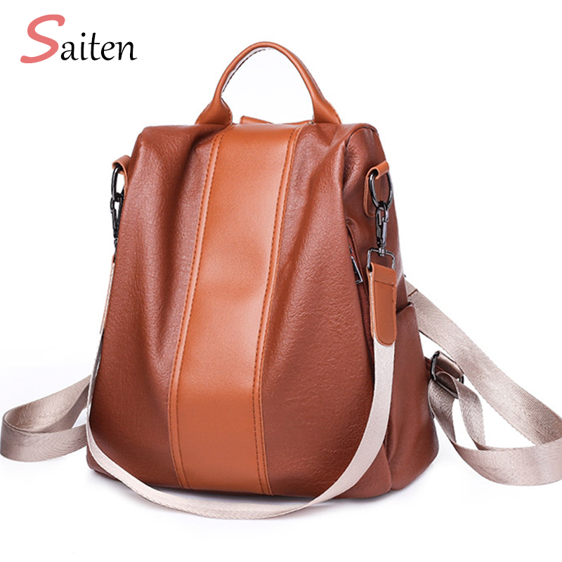 New Ladies PU Leather Backpacks For Teenage Girl2018 Fashion Mochilas Femininas School Back Pack Women Brand Anti Theft Backpack женские блузки и рубашки brand new ropa camisas femininas kimono cardigan
