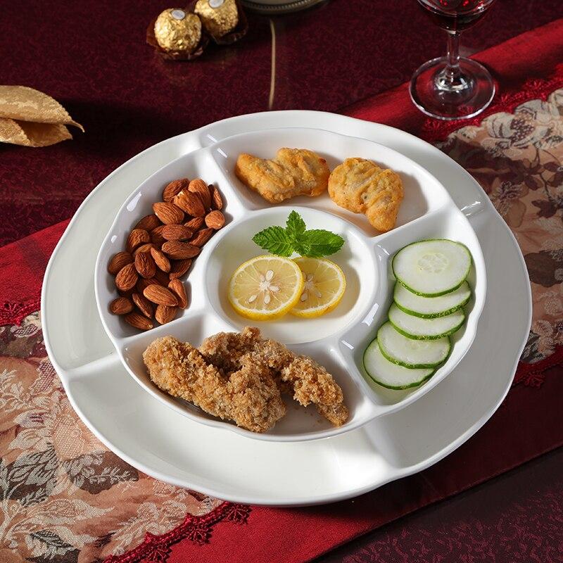 Food Snacks Candy Dish Ceramic Tableware Fruit Plate Cake Dessert Nut Trays Ceramic Plate Set Dinner Plate Plate Set