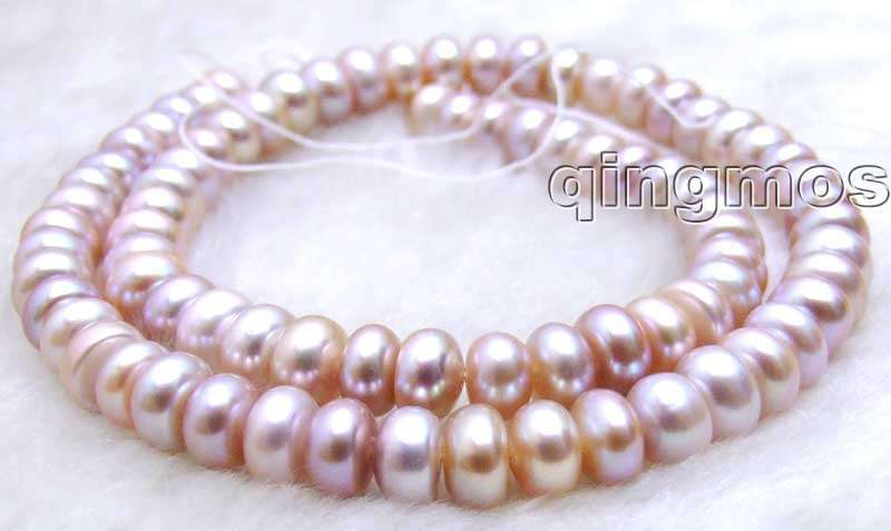 SALE Small 7-8mm Natural purple Freshwater BAROQUE Pearl Loose Beads 14-los586 Wholesale/retail Free shipping