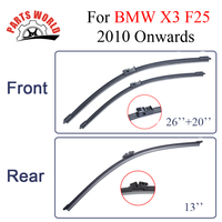 Combo Silicone Rubber Front And Rear Wiper Blades For BMW 3 Series F25 2010 Onwards Windscreen
