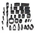 Набор инструментов для телефонов  кожевенное ремесло  39 форм  дырокол  перфоратор + коврик + молот