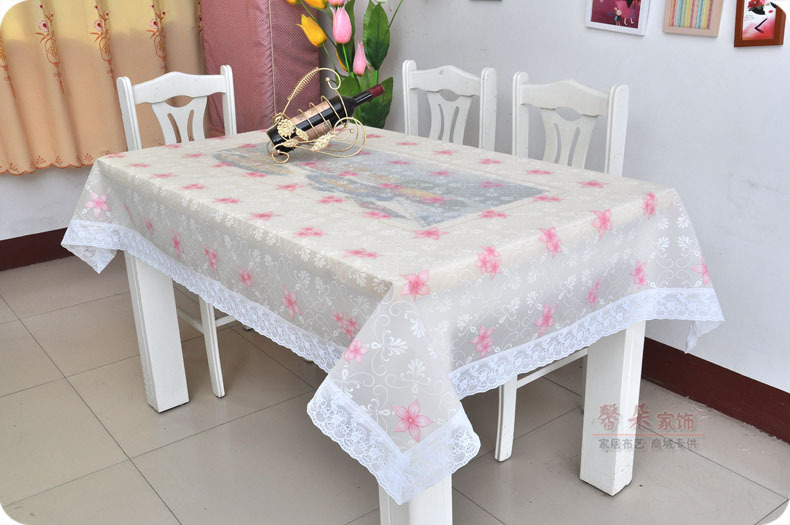 2016 New EVA Waterproof Oilproof Lace Table Cloth Sofa Table Cover Home  Party Coffee Table Cloth