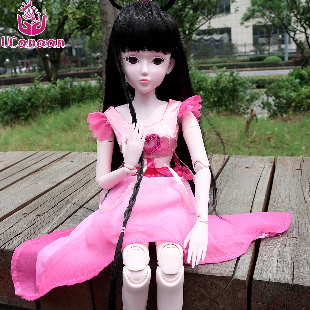 UCanaan 60CM 1/3 BJD SD Doll Toy High Quality 19 Joints Dolls DIY Girls Toys Birthday Gifts For Child Children
