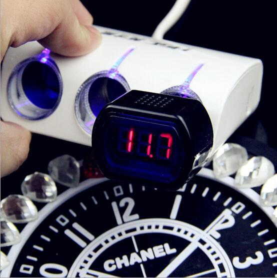 High Quality LED Display Cigarette Lighter Electric DC 12V-24V Battery Voltage Meter Tester For Auto Car