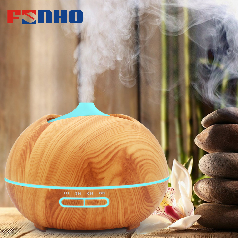 FUNHO 400ml Aroma Humidifier Air Ultrasonic Essential Oil Diffuser Aromatherapy LED Night Lights Mist Maker For Home Office 005 цена и фото