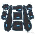 9 unids/set Coche pegatina antideslizante puerta pad ranura puerta alfombras Interiores portavasos decoración Para Chevrolet Aveo 2011-2014 Wh