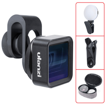 Ulanzi Universal Anamorphic Lens For Mobile Phone with Filter Adapter 1.33X Wide Screen Movie Mobile Phone Lens