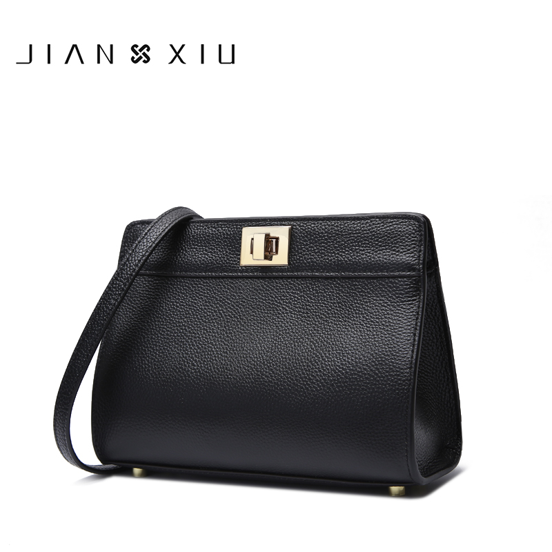 JIANXIU Genuine Leather Bags Bolsa Sac a Main Bolsos Mujer Women Messenger Bag Bolsas Feminina 2017 Small Shoulder Crossbody Bag jianxiu handbags women messenger bags bolsa feminina sac a main bolsos mujer tassen nylon waterproof shoulder crossbody tote bag