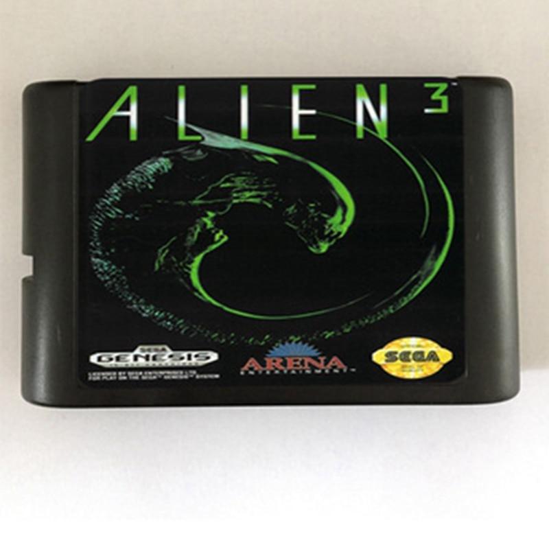 Alien 3 Game Cartridge Newest 16 bit Game Card For Sega Mega Drive / Genesis System