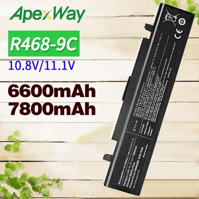6600 Mah 11.1 V Batterij Voor Samsung AA PB9NS6B AA PB9NC6B Aa PB9NC6B R468 R458 R522 R580 R540 R530 R519 Pb9nc6b Np350v5c np350e5c
