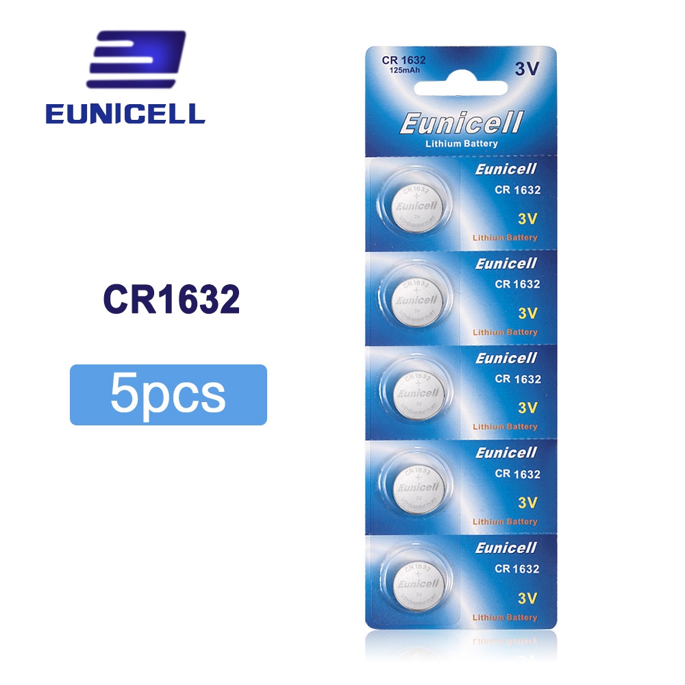 5pcs CR1632 CR 1632 ECR1632 DL1632 KCR1632 LM1632 3V Lithium Button Cell Battery Batteries For Toys Watch 1Card