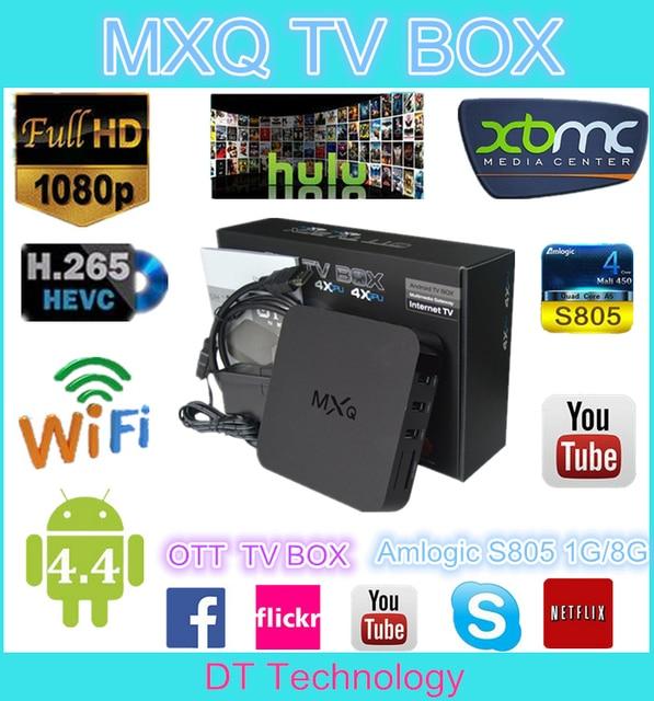US $188 05 |New 14 2 KODI Helix xbmc tv box mxq s805 ott amlogic s805 mxq  firmware android tv box mxq tv box quad core 1/8GB OEM paypal OKAY-in