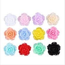 7be14269ef35 20 unids lote cabochon resina flor Rosa cuentas clip de pelo horquilla  decoración teléfono caso