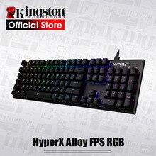KINGSTON teclado para deportes electrónicos HyperX, aleación FPS, RGB, panel de Metal, Teclado mecánico, efectos dinámicos