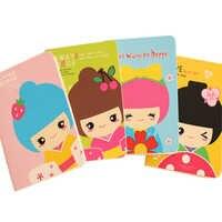 1 pc/lot Kawaii dessin animé fille poupée petit cahier mémo livre de poche papier livre journal carnet papeterie étudiant approvisionnement parti faveur