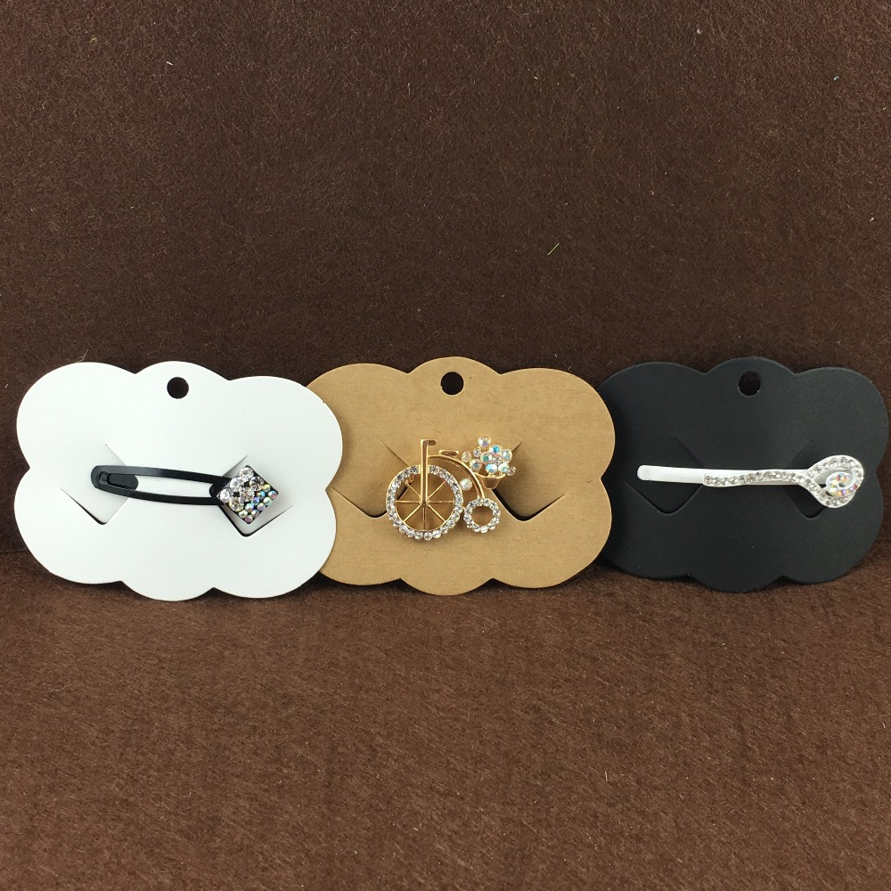 200PCS 6.5*9cm Hair Clip Card Paper Jewelry Display Cards Hair Accessory Cards Blank Hairpin Packaging Card Accept Custom Logo